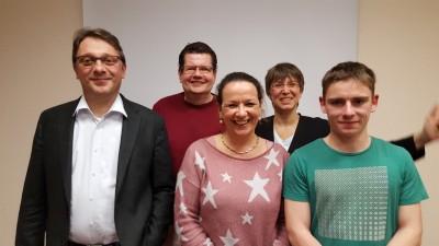 v.l.n.r. Elmar Gillet, Ralf Engelmann, Susanne Giesen-Pätz, Monika Mertens, Niklas Frank
